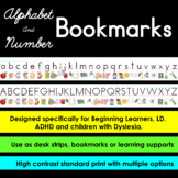 Alphabet and  Number Bookmarks  :: Learning Strips  :: Des
