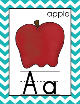 Alphabet and Number Cards for the Primary Classroom