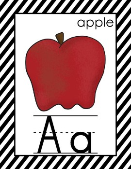 Alphabet and Number Cards for the Primary Classroom {Black & White}