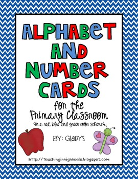 Alphabet and Number Cards for the Primary Classroom {Primary Colors}