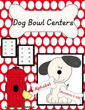 Alphabet and Number Center- Dog Theme