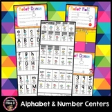 Alphabet and Number Centers