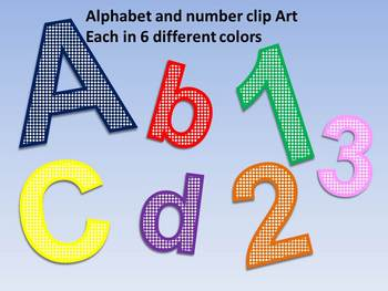 Alphabet and Number Clip Art