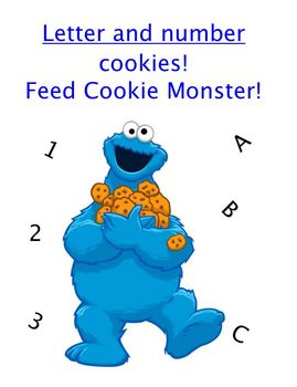 Alphabet and Number Cookies Center Game or Assessment Activity