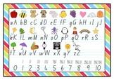 Alphabet and Number Desk Chart