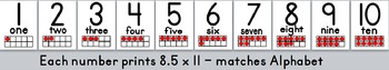 Alphabet and Number Display PRIMER PRINT