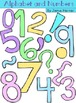Alphabet and Number Doodle Clipart - Pastel Colors
