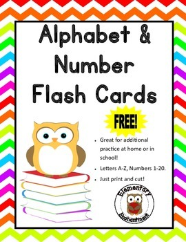Alphabet and Number Flash Cards