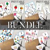 Alphabet and Number Flash Cards Bundle