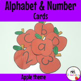 Alphabet and Number Flashcards: Apple Theme