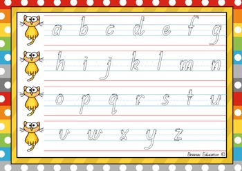 Alphabet and Number Handwriting Boards