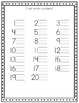 Alphabet and Number Handwriting Sheets