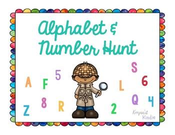 Alphabet and Number Hunt