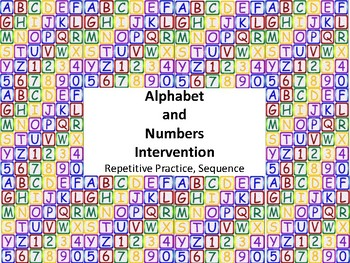 Alphabet and Number Intervention Booklet