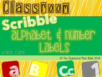 Alphabet and Number Labels (Boyish Charm)