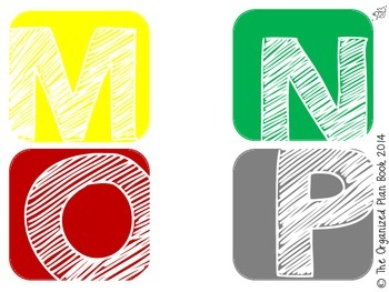 Alphabet and Number Labels (Boyish Charm)