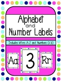 Alphabet and Number Labels