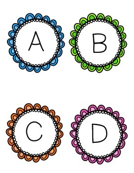 Alphabet and Number Labels (A-Z & 0-20)