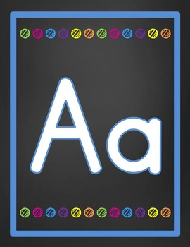Alphabet and Number Line