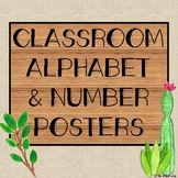 Alphabet and Number Line Classroom Posters (Succulent/Farmhouse Theme)