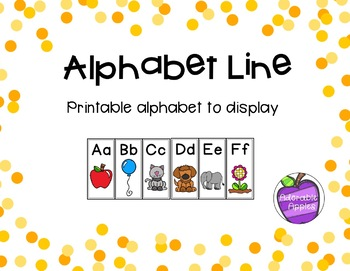 Alphabet and Number Line Display Bundle