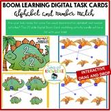 Alphabet and Number Match Dinosaurs - Visual Discriminatio