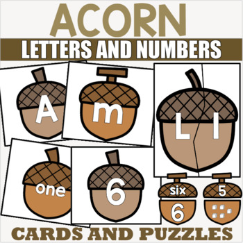 Letter and Number Match with Acorns