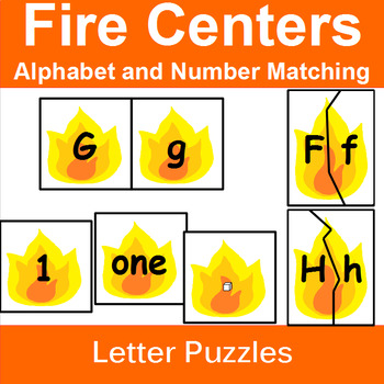 Alphabet and Number Match with Fire