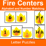 Letter and Number Match with Fire