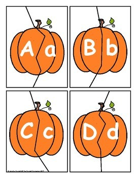 Letter and Number Match with Pumpkins