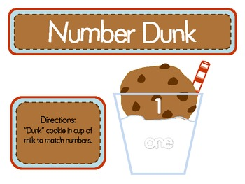 Alphabet and Number Matching Centers-Cookie Themed