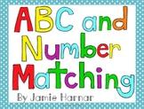 Alphabet and Number Matching Mats