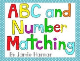 Alphabet and Number Matching Mats