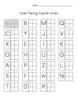 Alphabet and Number Naming Assessment: Report Card and Formative Assessment