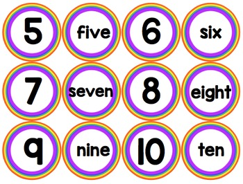 Alphabet and Number/Number Word Match