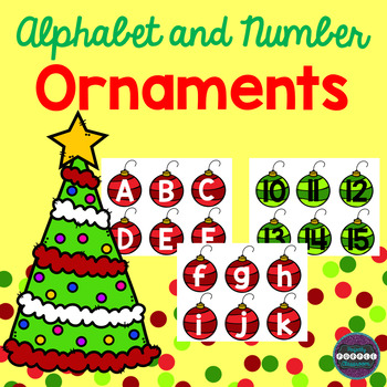 Alphabet and Number Ornaments
