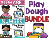 Alphabet and Number Play Dough Mats BUNDLE