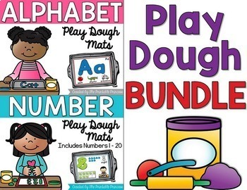 Alphabet and Number Play Dough Mats BUNDLE