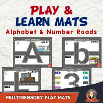 Alphabet and Number Play and Learn Road Center Activities