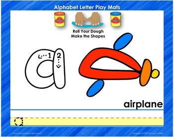 Alphabet and Number Play and Learn with Dough Mats