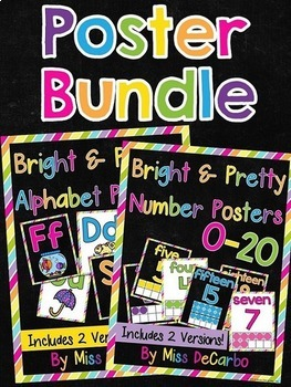 Alphabet and Number Poster Bundle