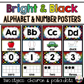 *Alphabet and Number Posters