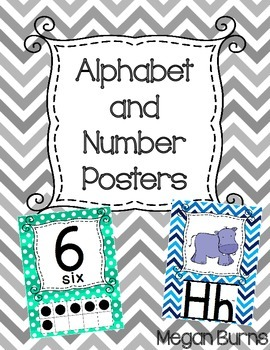 Alphabet and Number Posters