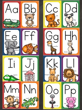 Alphabet and Number Posters (Animal Theme)