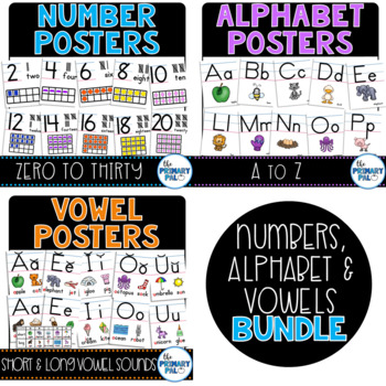Alphabet and Number Posters Bundle