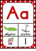 Alphabet and Number Posters Bundle ~ Rainbow Polka Dot Theme