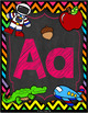 Alphabet and Number Posters (Chalkboard and Bright Chevron)