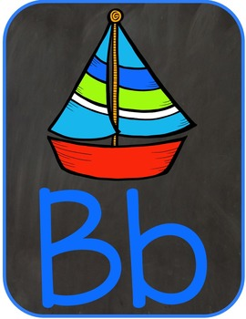 Alphabet and Number Posters: Chalkboard Inspired