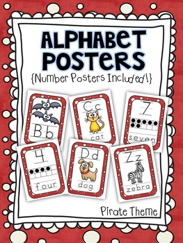 Alphabet Posters for the Classroom Pirate Theme