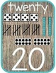 Alphabet and Number Posters: Rustic Theme: Great for Campi